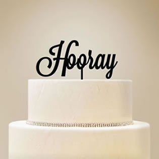 Personalized Script Text Cake Topper