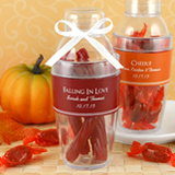 Personalized Cocktail Shaker Favor Fall Designs