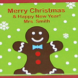 "1.9"" X 1.9"" Square Holiday Label"
