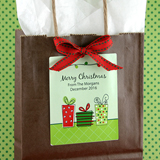 "3"" X 3.75"" Rectangular Holiday Label"