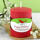 "2"" X 1"" Oval Holiday Label"