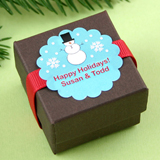 "1.5"" Scalloped Holiday Label"