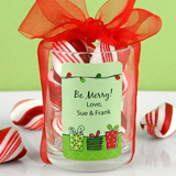 "1.25"" X 2"" Rectangular Holiday Label"