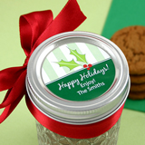 "2"" Circular Holiday Label"