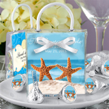 Beach Designs Hershey's Kisses Mini Gift Tote Favors