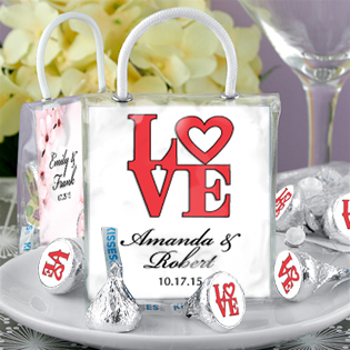 Heart Designs Hershey®'s Kisses® Mini Gift Tote Favors