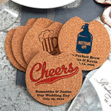 Personalized Car Cork Coasters