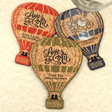 Personalized Hot Air Balloon Cork Coaster