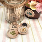 Personalized Wooden Nickel Magnets
