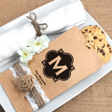 Monogram Kraft Favor Bag