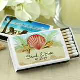 Personalized Matches - Set of 50 (White Box): Beach Designs