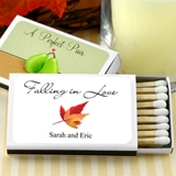 Personalized Matches - Set of 50 (White Box): Fall Designs