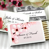Personalized Matches - Set of 50 (White Box): Flower Designs