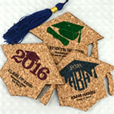 """Graduation Cap"" Cork Coaster"