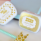 Personalized Metallic Foil Mint Tins - Wedding