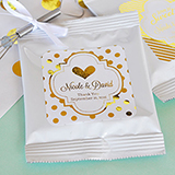 Personalized Metallic Foil Hot Cocoa + Optional Heart Whisk - Wedding