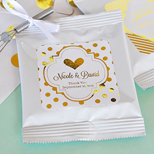Personalized Metallic Foil Lemonade + Optional Heart Whisk - Wedding