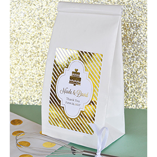 Personalized Metallic Foil Sugar Cookie Mix - Wedding