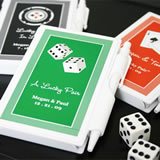 """A Lucky Pair"" Vegas Themed Personalized Notebooks"