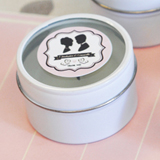 Vintage Wedding Personalized Round Candle Tins