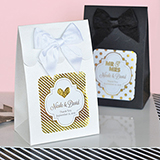 Sweet Shoppe Candy Boxes - Metallic Foil Wedding (set of 12)