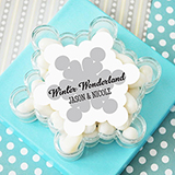 A Winter Holiday Snowflake Acrylic Favor Boxes