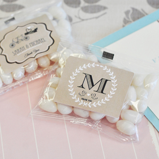 Vintage Wedding Personalized Jelly Bean Packs