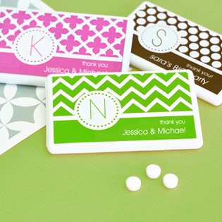 MOD Pattern Monogram Mini Mint Favors