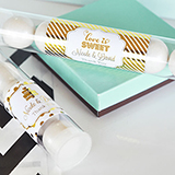 Personalized Metallic Foil Candy Tubes - Wedding