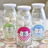 Mod Monogram Milk Bottles