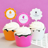 MOD Theme Silhouette Cupcake Wrappers & Cupcake Toppers