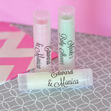 Personalized Lip Balm Tubes with Clear Labels