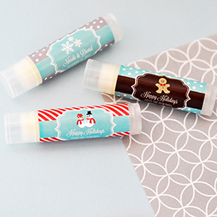 Personalized Winter Lip Balm Tubes