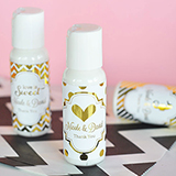 Personalized Metallic Foil Lip Balm Tubes - Wedding