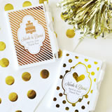 Personalized Metallic Foil Notebook Favors - Wedding