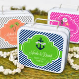Love to Travel Personalized Theme Suitcase Tins