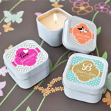 Personalized Square Candle Tin Favors - ON SALE