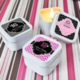 Sweet Sixteen Square Candle Tins