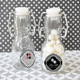 Vegas Personalized Mini Glass Bottles