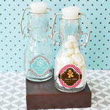 A Winter Holiday Personalized Mini Glass Bottles
