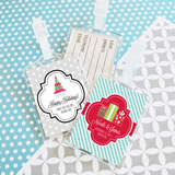 """A Winter Holiday"" Acrylic Luggage Tags"
