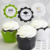 Graduation Cupcake Wrappers & Cupcake Toppers