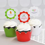 Winter Cupcake Wrappers & Cupcake Toppers