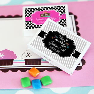 Personalized Birthday Gum Boxes