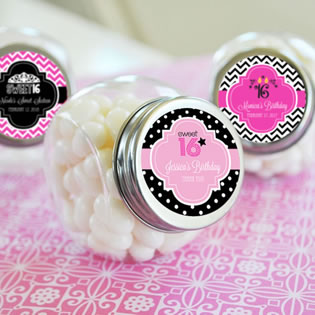 Sweet Sixteen Candy Jars
