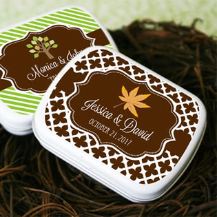 Fall for Love Personalized Mint Tins