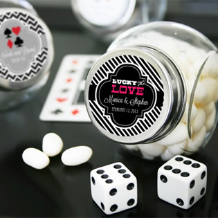 """A Lucky Pair"" Vegas Themed Candy Jars"