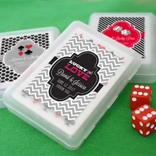 Las Vegas Themed Playing Card Favors with Personalized Box - ON SALE
