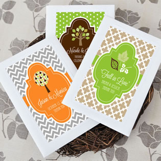 Fall Themed Seed Pack Favors