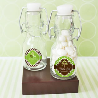 Fall for Love Personalized Mini Glass Bottles